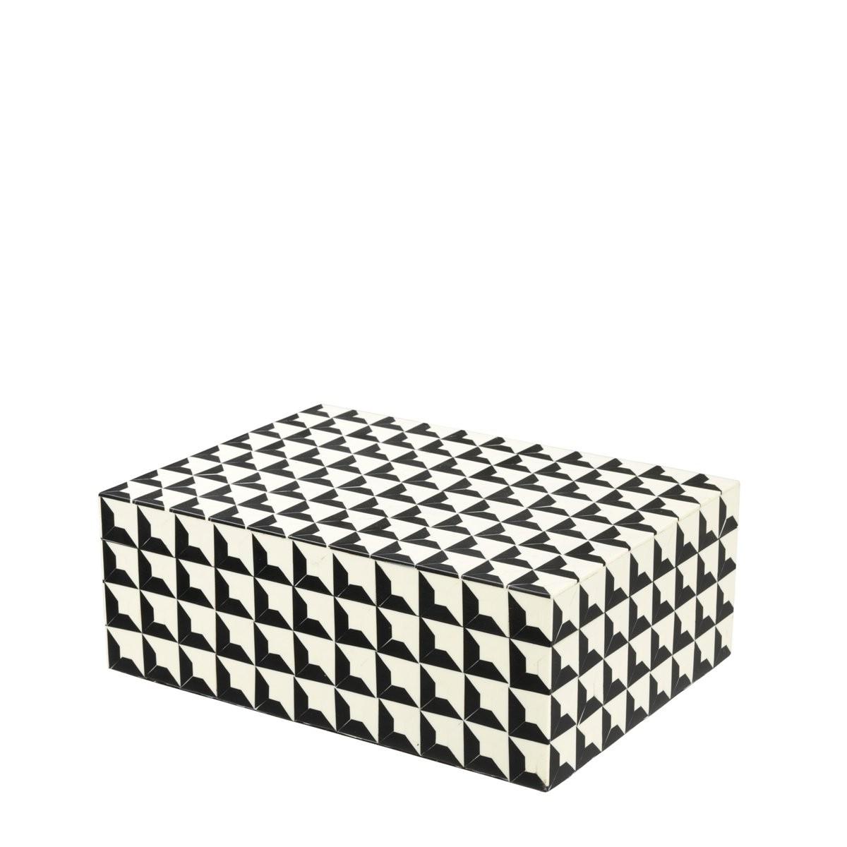 Cabas Small Black & White Box