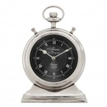 Alain Large Nickel Clock