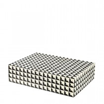 Cabas Large Black & White Box
