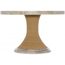Amani Round Pedestal Dining Table with Wood Top