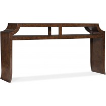Accents Dark Burl Wood Console Table