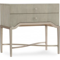 Elixir Two-Drawer Bedside Table