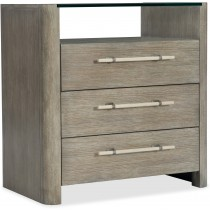 Affinity Three-Drawer Bedside Table