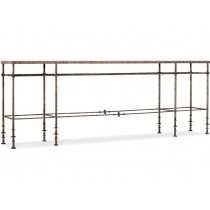 La Grange St James Metal and Stone Console