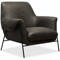 Ambroise Metal Frame Black Armchair
