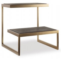 Curata Midnight Brown Side Table