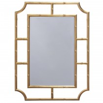WORLDS AWAY MARIAN GOLD BAMBOO MIRROR