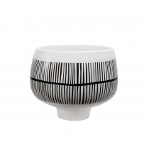 Black & White Large Ceramic Pot