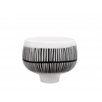 Black & White Small Ceramic Pot
