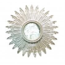 Worlds Away Santo Silver Leaf Starburst Mirror