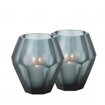 Okhto Large Blue Tealight Holder Set of 2
