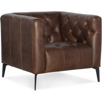 Nicolla Brown Leather Armchair